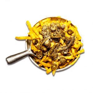 سیب زمینی اسپایسی با هالوپینو رستوران هشتگ کیش