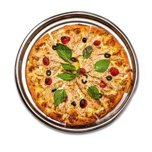 پیتزا مرغ و ریحون رستوران هشتگ کیش