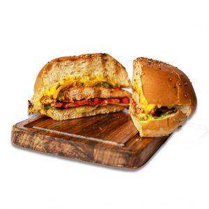 همبرگر چیکن پستو رستوران هشتگ کیش