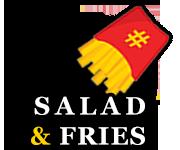سالاد و سیب زمینی مخصوص رستوران هشتگ کیش